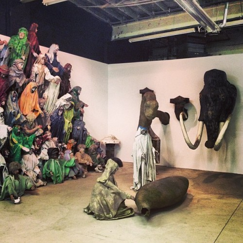whatsgoinondetroit:   #artxdetroit opening night at #mocad. A #scotthocking instillation that will make you trip. #detroit