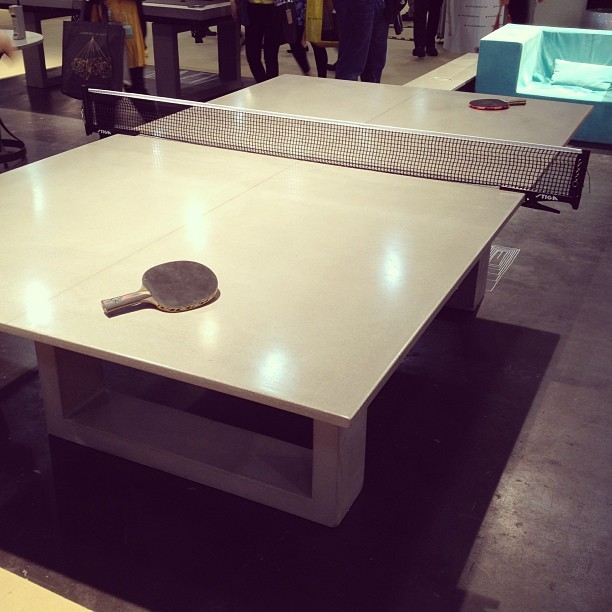By 'coolmaterial' on instagram: Concrete ping pong table #icff http://bit.ly/17WaSVd