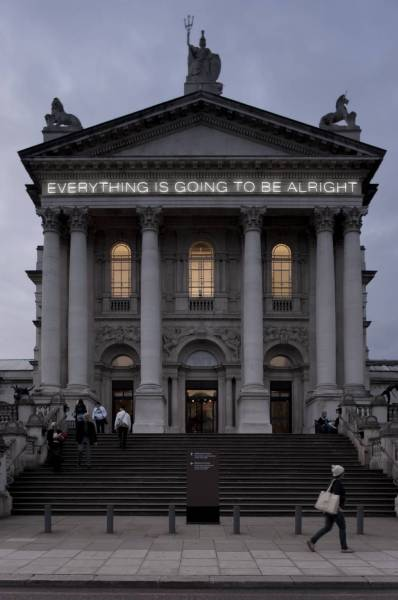 atavus:  Martin Creed - Work No. 203: Everything is Going to be Alright, 1999 Image found at [Tate]