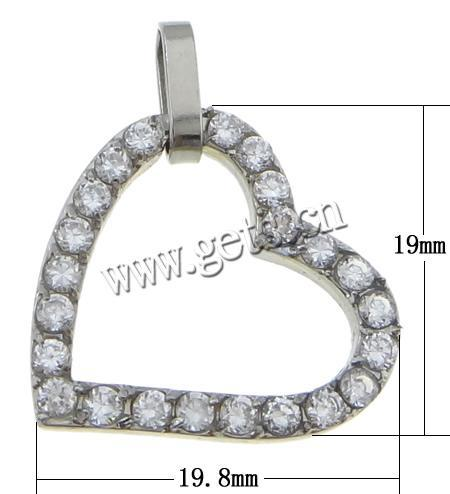Cubic Zirconia Stainless Steel Pendants