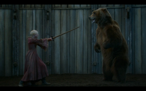 "Game of Thrones Podcast #17: ""The Bear and the Maiden Fair"" with guest Ryan McGee Ryan McGee from the AV Club, Boobtubedude.com, and Talking TV with Ryan and Ryan (among other things,  joins Kate and Ricky to discuss the seventh episode of the third season of Game of Thrones titled ""The Bear and the Maiden Fair."" We've now come to expect author George R. R. Martin to write one episode per season. Last year, he gave us the truly excellent ""Blackwater"", but how does ""The Bear and the Maiden Fair"" compare? Tune in and find out what we think."