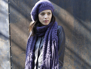 crocheted hat and scarf