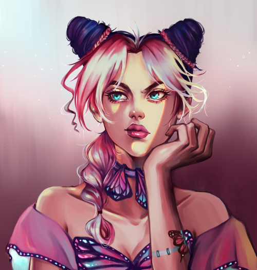 kj40536:jolyne for @bluvianna's dtiys on instagram