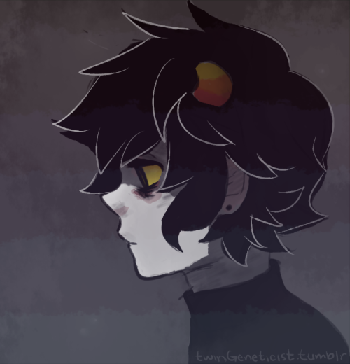 twingeneticist:  my internet was out so i drew karkat