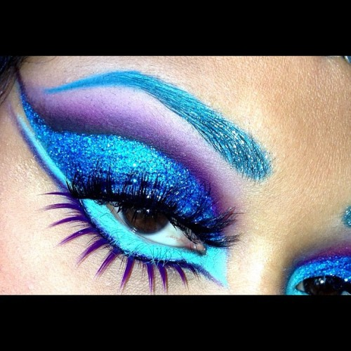 Close up of the eyes using #sugarpill #occ #stila #anastasiabeverlyhills #litcosmetics im gonna have this on all into the early morn'! Tonight is gonna be crazy!  (at New York, NY)
