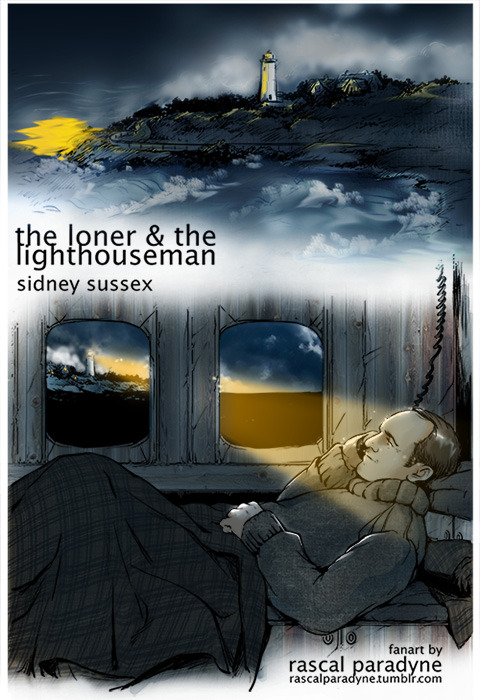 Fanart for a very beautiful story by Sidney Sussex, The Loner and the Lighthouseman. This is my own version of the light, the Highland Light off Cape Cod, MA, homesick like woah gonna go weep softly in a corner now.