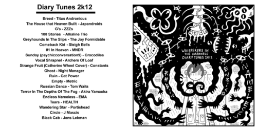My 2012 Diary Tunes (wherein I struggled with mental illness):download here