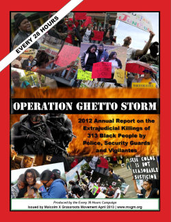 """OPERATION GHETTO STORM"" / ""ESSENTIAL INFORMATION"""
