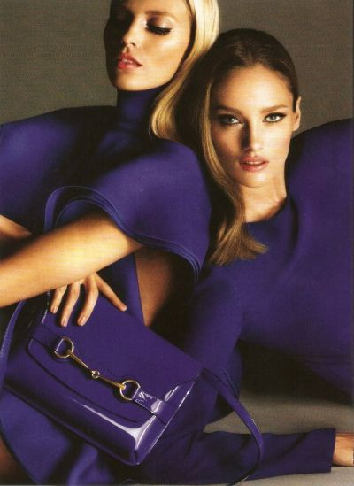 Anja Rubik and Karmen Pedaru for Gucci Spring 2013