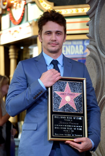 US actor James Franco is honored with a star on the Hollywood Walk of Fame on March 07, 2013 in Hollywood, California