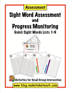 Assess your student's knowledge of the Dolch 220 sight words with the Make, Take & Teach sight word assessment. Assessment materials, directions for administration, student recording forms and progress monitoring graphs are included.