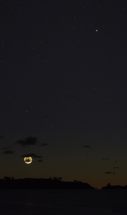 ivaniathebrokendreamer:  A Planet and a Moon (by Astronomr)