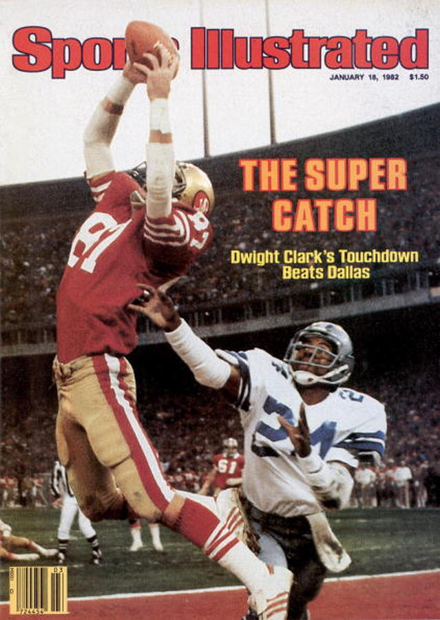 "BACK IN THE DAY |1/10/82| Dwight Clark made ""The Catch"" in the NFC Championship game against the Dallas Cowboys."