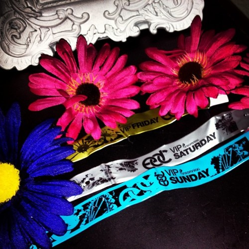 🌼#throwbackthursday #tbt #edc2012 my #edclasvegas wristbands from last year🌼 if I don't go this year ill die 😫😢😭💀
