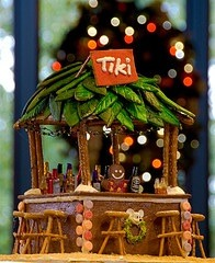Gingerbread Tiki Bar!