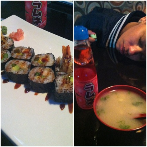 Every week. #Sushi #Ramune #MisoSoup (at Blue Ginger)