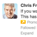 Chris Fralic from First Round Capital has used the smartest targeted Twitter Ad I've seen yet (and useful, although I already follow @chrisfralic).  Here's a little extra link juice Chris.