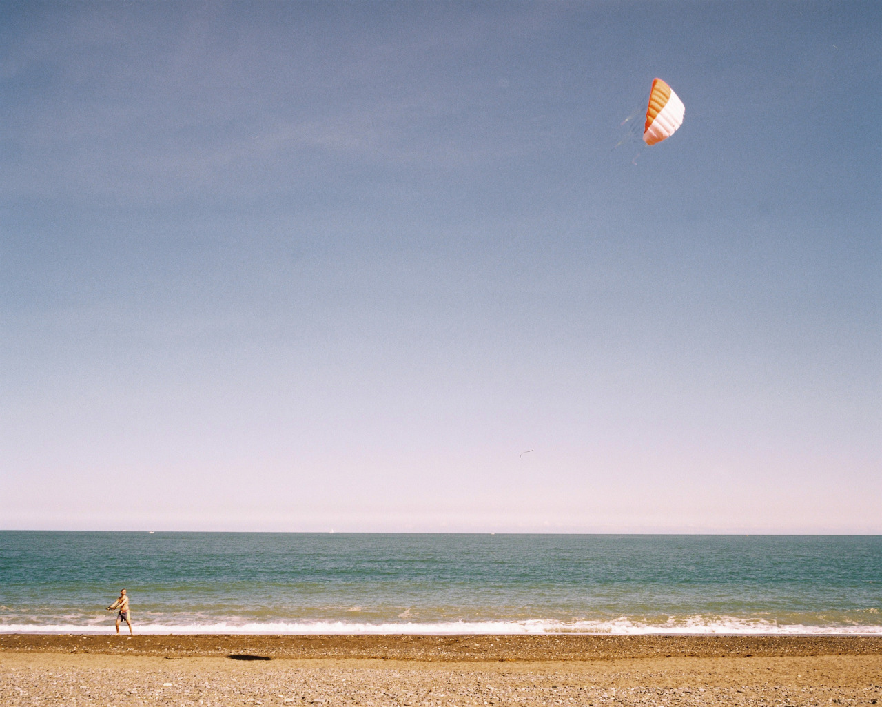 Flying kites on a beach somewhere in Dublin