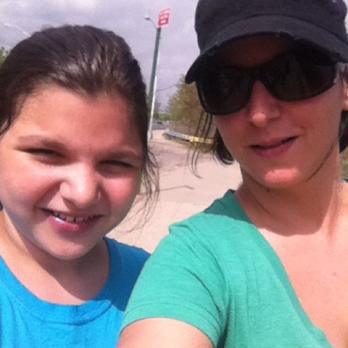 "She said, ""Hey Mom…next time you go running can I come?"" Three miles later she was singing a different tune."