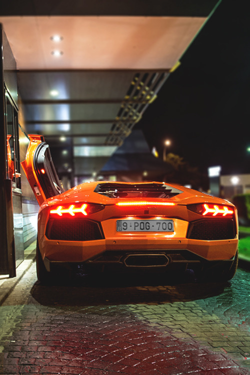 johnny-escobar:  The McAventador sits too low to reach the drive-thru window :( #First World Problems