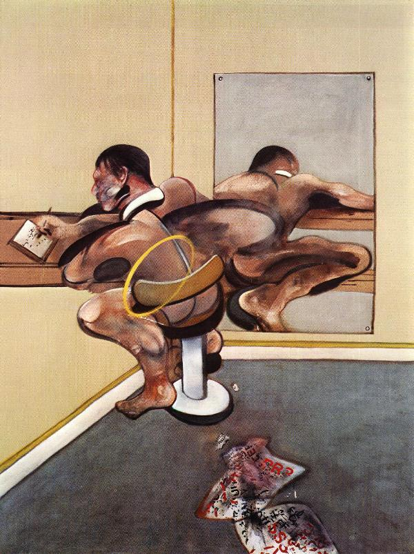 Figure Writing Reflected in a mirror, 1976, Francis Bacon #expressionism#bacon#francisbacon