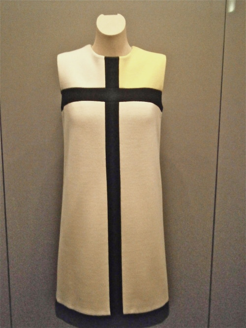 Yves Saint Laurent 'Mondrian' dress in Rijksmuseum, Amsterdam, NL