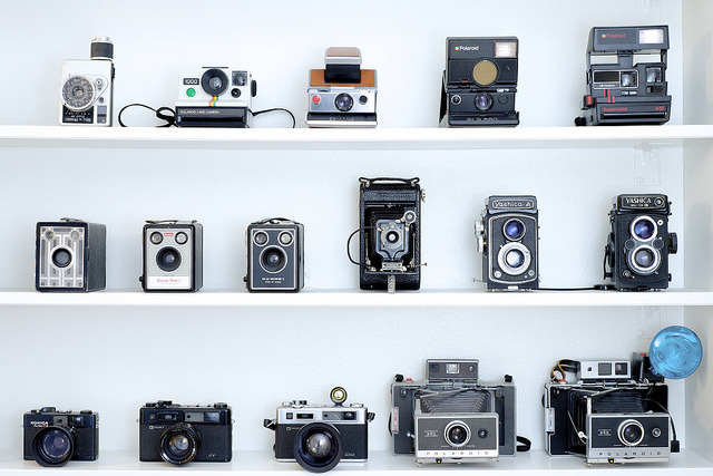 Camera collection on Flickr.Kamerasamlingen