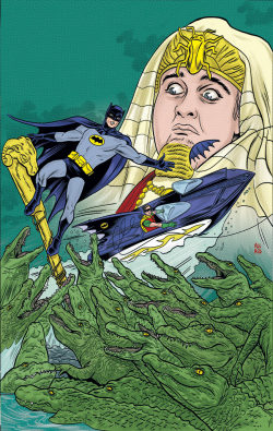 Batman '66 #2 cover by Mike Allred.