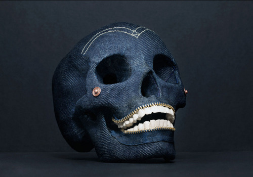 THE 1954 SKULL Sculpture in Bone and Denim by Christian Weber (2013) Christian Weber is an internationally exhibited filmmaker and photographer based in New York who is consistently recognized for challenging a conventional interpretation of beauty.