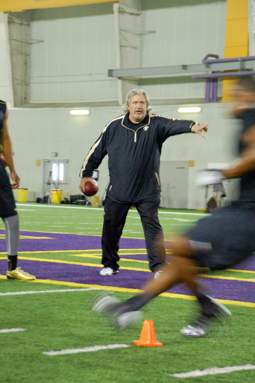 New Orleans Saints Defensive Coordinator Rob Ryan at LSU Pro Day on Wednesday, March 27, 2013.