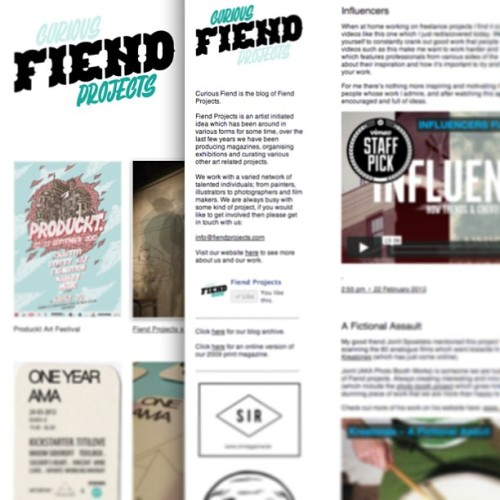 Small re-branding for fiendprojects.com and curiousfiend.tumblr.com check them out! @fiendprojects @curiousfiend #design #logo #branding #curiousfiend #fiendprojects #art #hongkong