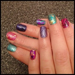 Beth got a fancy new Shellac mix today too! #shellac #shellacart #nailart