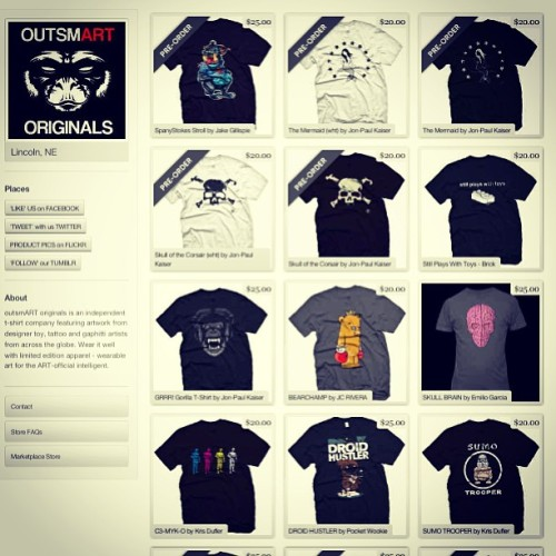 Http://outsmartoriginals.storenvy.com   #teeshirt #promotion #galore pre-orders for @jonpaulkaiser's new tees are open. Also available as well, are my own #cmyk3po & #sumotrooper shirts, supplies limited #actfast and the #buy3_get1_free deal is still ongoing thru may (I believe) #get_on_over_there (at OutsmArt Originals Promo Blimp)