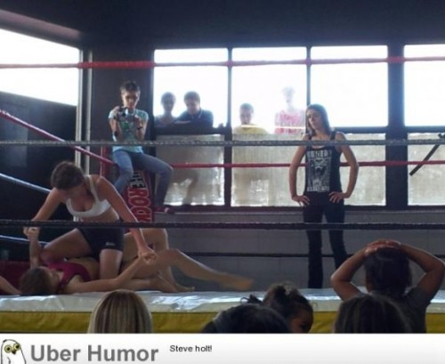 My sister does MMA at an all girls gym. The local kids turned up…http://meme-rage.tumblr.com