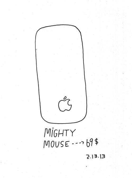 Daily Purchase Drawing for 02.13.13 Magic Mouse. I thought it was called a Mighty Mouse.