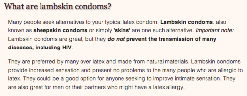 thing alert: these are still a thing in 2013 http://lambskincondoms.org/#whatare