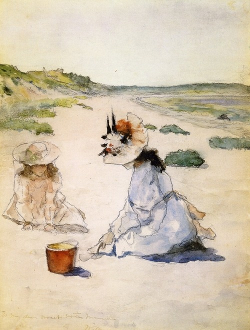 artemisdreaming:  On the Beach, Shinnecock (1895) by William Merritt Chase