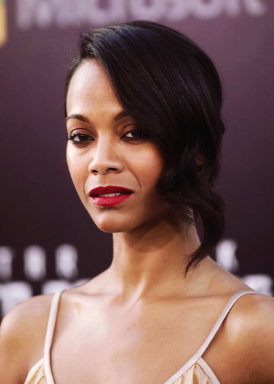Zoe Saldana at the 'Star Trek Into Darkness' premiere in Los Angeles