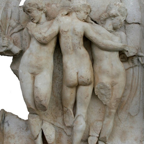 The Three Graces of Aphrodisias The Three Graces carved in a Hellenistic style. The Three Graces were the servants of Aphrodite. Their names are joy (Euphrosyne), Splendor (Aglaea) and Verdancy (Thalia).Around 200 reliefs were used in the decoration of the Sebasteion, 80 of which have been uncovered in the excavation of the ancient City of Aphrodisias.  Follow the link to see all my The Tetrapylon gifts and collectables.Click the links to see all of my Redbubble Aphrodisias Paintings,Aphrodisias Photography, Aphrodisias Greeting Cards, Aphrodisias Stickers, Aphrodisias Tees,, Aphrodisias iPhone Cases and Aphrodisias iPads.    -——————————————————————————————————————————————————      *My Images Do Not Belong To The Public Domain. All images are copyright © taiche. All Rights Reserved. Copying, altering, displaying or redistribution of any of these images without written permission from the artist is strictly prohibited