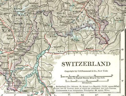 Switzerland   Vintage Map  Large to Frame 1930s at CarambasVintage http://etsy.me/16O9qzd