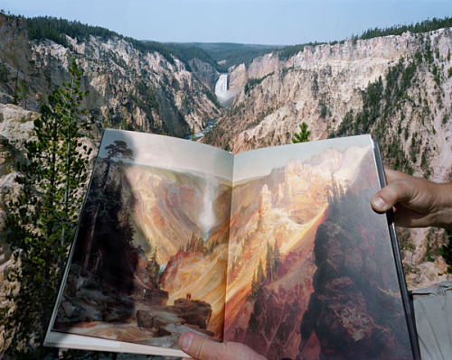 christopherschreck:  Mark Klett, Viewing Thomas Moran at the Source, 2000