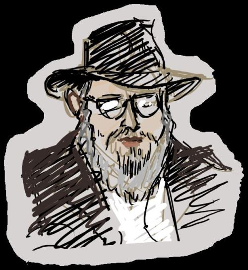 Rabbi Mensch.. who was a real mensch for enduring me drawing him.