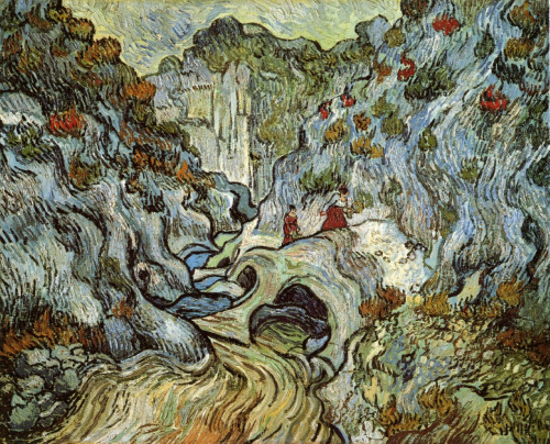 The ravine of the Peyroulets by Vincent van Gogh (1889).
