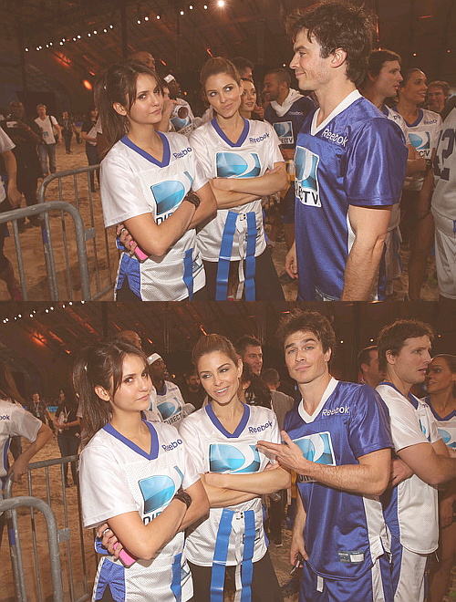 Nina Dobrev, Maria Menounos, and Ian Somerhalder -DIRECTV'S Seventh Annual Celebrity Beach Bowl