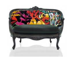 Colorful Graffiti Settee - Teo Jasmin