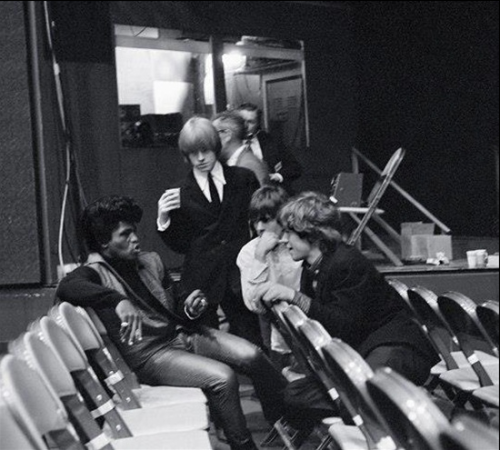awesomepeoplehangingouttogether:  James Brown, Brian Jones, Keith Richards and Mick Jagger