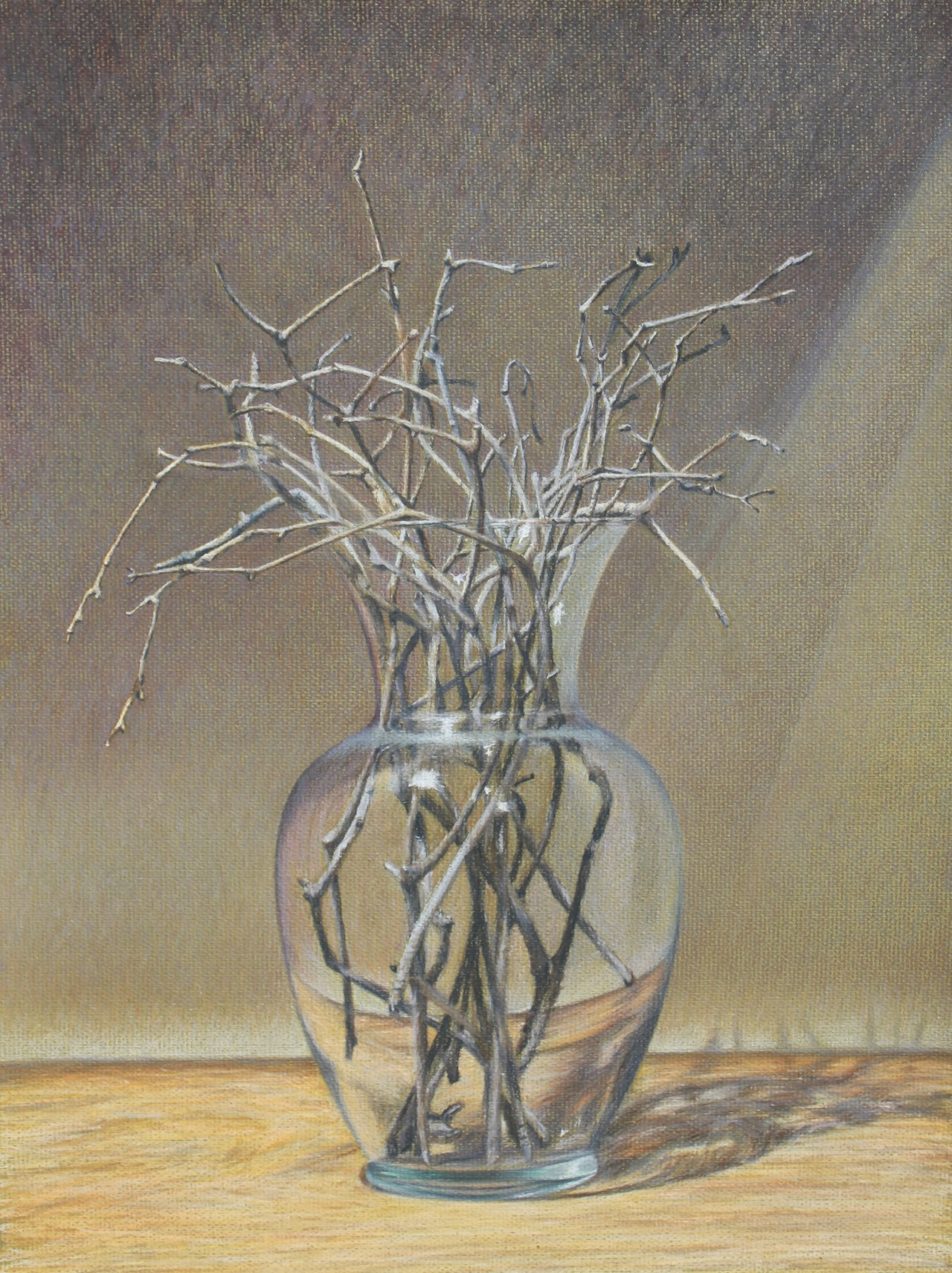 "In Lieu Of Flowers. Colored pencils on toned paper. 19.5"" x 25.5"", c2012 Heather Boyd."