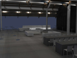 Parrish Museum Gala progress rendering