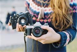 girl film outdoor woman long hair cameras 35mm analog natural light canon ae-1 program 50mm f/1.4 Kodak Portra 400 zenit 11 hello i'm wild