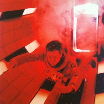 This was a great retrospective. #kubrick #red #screenshot #2001 #spaceodyssey #lacma